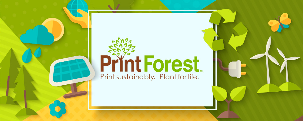 Print sustainably. Plant for life.