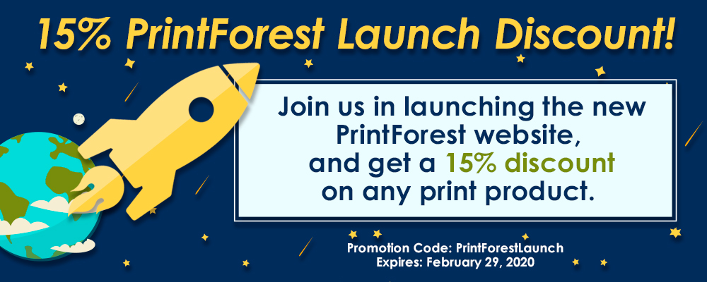 Promotion Code: PrintForestLaunch